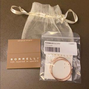 Sorrelli rose gold hoop earrings - new